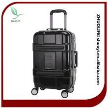 abs hard shell colorful korea style used luggage for sale, aluminum frame luggage case