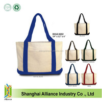 Wholesale Custom Printed Heavy duty canvas cotton Tote bags with front pocket