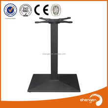 HD055 outdoor stainless steel Cast Iron Table Base For Glass Tops