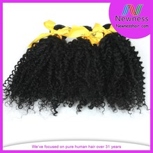 Factory discount top grade cheapest indian remy hair curly weave weft