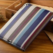 for ipad air 2 stripe leather case