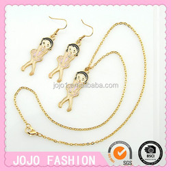 Girls Chain Necklace hot sale gold plated necklaces set