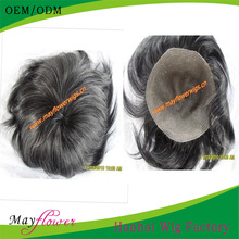 100% virgin human hair grey hairpieces for men and women various styles toupee hair