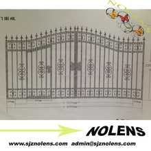 new products wrought iron window fence sale/Excellent handmade wrought iron door ornament sale