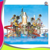Commercial new giant children water park equipment with slide for sale