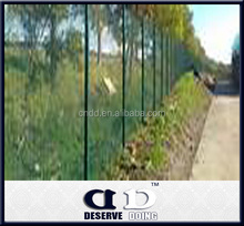 Used wrought iron galvanized anti climb fencing with metal post for sale