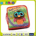 venda quente eco amigável soft baby tecido pano livro brinquedo educacional
