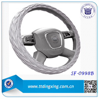 hot sale new auto interior accessories soft sheepskin car steering wheel covers for winter from China factory