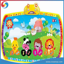 Animal pattern dance PP waterproof baby play mat with music