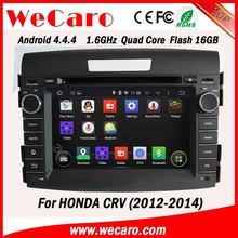 """Wecaro Android 4.4.4 car dvd player 7"""" touch screen for honda crv car gps bluetooth radio android bluetooth 2012 2013 2014"""