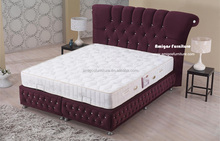 Foshan Amigos furniture hot sell velvet bedwith glass diamond bed