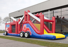 Inflatable Obstacle run fire truck 17,5m for sale