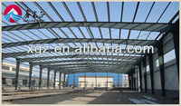 Prefabricated Sandwich Panel Workshop / Plant with Metal Frame Low Cost
