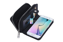 Multi-functional Zipper Billfold Wallet Leather Phone Case Bag with Card Slot Money Pocket for Samsung