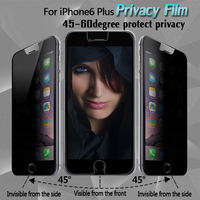 9H hardness 0.26mm Privacy tempered glass screen protect film for iphone 6 4.7'' 5.5''