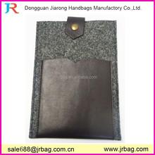 Designer felt tablet case with phone pocket