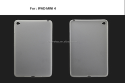 matte tpu protector case for ipad mini 4 , slim tpu case for ipad mini 4