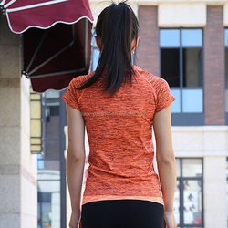 China high quality target workout clothes , fitness wear , yoga t shirts in low price