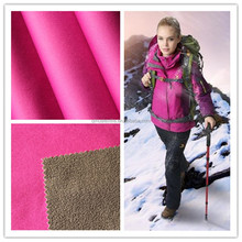 Fashionable Waterproof Breathable Knit Bonded Polar Fleece Fabric