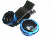 Universal 3 in 1 Clip Mobile Phone Camera Lens with Wide - angle + Macro + Fisheye for mobile phone