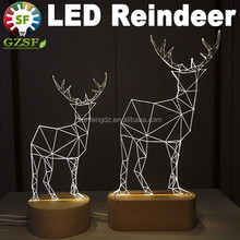 New design dimmable 3D reindeer motif festival lights, holiday decoration with CE RoHS