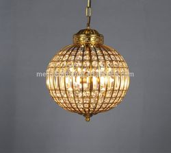 High quality antique bohemian in chrome finish stairwell crystal ball chandelier