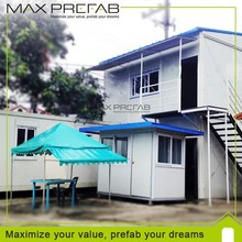 Low Cost Two-storey Real Estate safe and durable Prefabricated homes