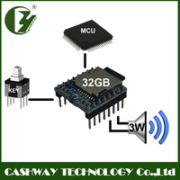 best mp3 player module, advertisement pre-record sound chip, voice message recorder with 3W amplifier