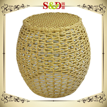 New design pop handmade PE rattan stool