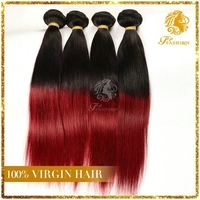 distributorships available black and red ombre hair 24 inch virgin remy brazilian