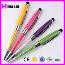 Fancy branded metal crystal stylus pen promotional ball pen with touch top crystal ball pen with logo