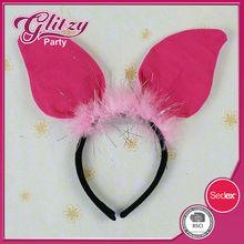 AH-39 2015 Animal Fly Pig Ear Headband Headwear Kids Children Girls Party Costume Cosplay Accessory