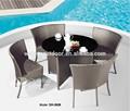 Nuevo diseño redondo de mesa y una silla ( DH-3028 )