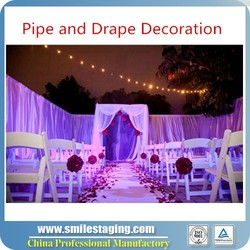 Pipe and drape decoration for wedding tent