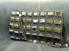 EMERALD BLACK CRYSTAL PURSE HAND BAG CLUTCH
