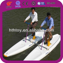 Enjoyable lovely adult water bike pedal boats for sale