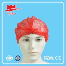 Clip cap/hair net streaking cap for food industry