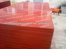 Linyi brown/black/red film faced plywood with two time pressed