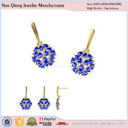 gold plated jewelry wholesale pakistan sterling silver jewelry 925 earring with blue stone