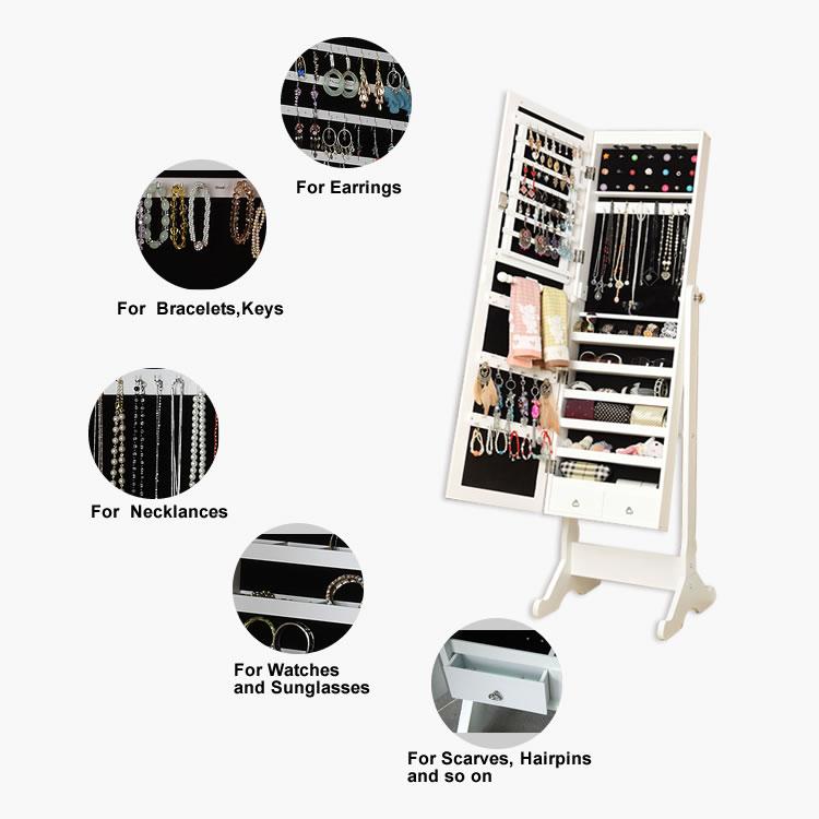 Jóias organizador do armário de armazenamento colar anel
