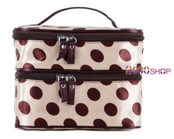 Hot Sale Double Layer Makeup Bags With Handle Multifunctional Two Layer Hand Cosmetic Bag