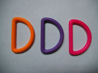 Plastic D Ring colorful available d ring velcro strap for bags accessories