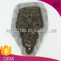 Hot sell beaded applique patch for clothes WTA46