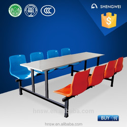 6-8 seats nursery school desk and chair with high quality
