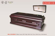BALLOON BEAR Animal coffin wood pet casket products American Baby Wood coffin