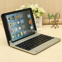 Ultrathin Silver Portable Wireless Bluetooth 3.0 Slim Aluminum Layout Keyboard Touchpad Case Cover For iPhone For iPad Mini New