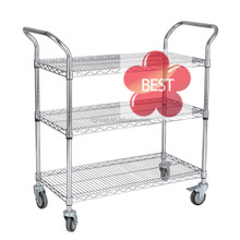 Carbon Steel Industrial Mobile Wire Shelving there are 3 4 5 levels and adjustable