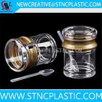 Modern Stylish Brushed Seasoning Containers Spice Jar Salt Pepper Sugar Storage Organizers