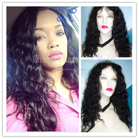 NEW ! Long Natural Wave Full Lace Wig Virgin Brazilian Human Hair Glueless Lace Front Wigs Wet And Wavy Hair For Black Women