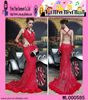 2015 New Model Hot Sale Mermaid Evening Dress Floor Length Sexy Backless See Through Lace Evening Dress